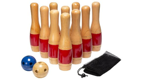 Hey! Play! Lawn Bowling Game with Mesh Bag