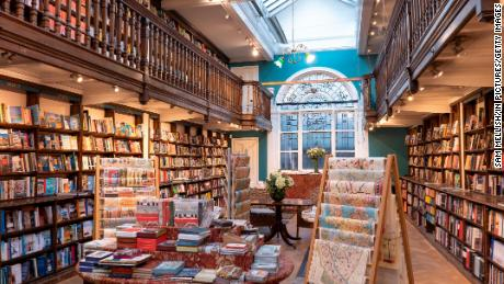 Interior showing two floors of floor to ceiling books and gifts on sale at Daunt Books on the 27th September 2019 in London in the United Kingdom. (photo by Sam Mellish / In Pictures via Getty Images)
