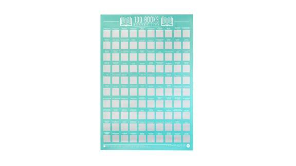 100 Books Scratch Off Poster