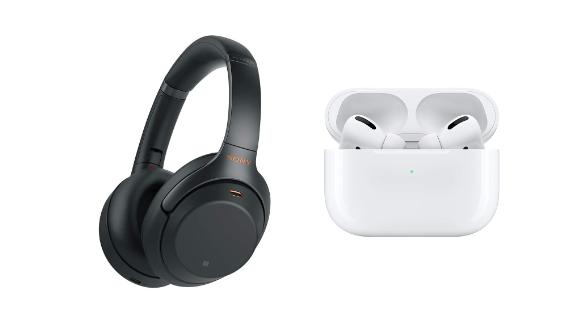 Sony WH-1000XM3 Noise-Cancelling Headphones and Apple AirPods Pro