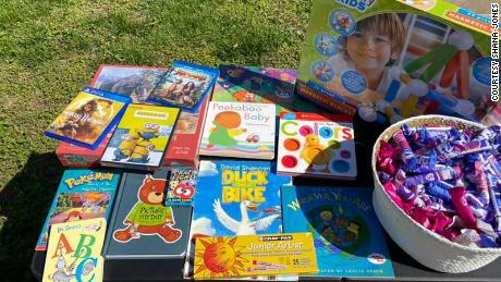 Members of the community have also made their own donations of children's books and games.