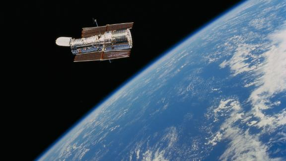 The Hubble Space Telescope was launched from the space shuttle Discovery on April 24, 1990.