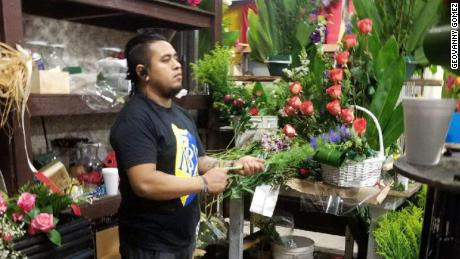 Geovanny Gomez used to design and assemble floral arrangements at the Los Angeles Flower District.