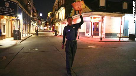 Jarvis Davis, who's worked on Bourbon Street since he was 8, says he's never seen it so quiet.
