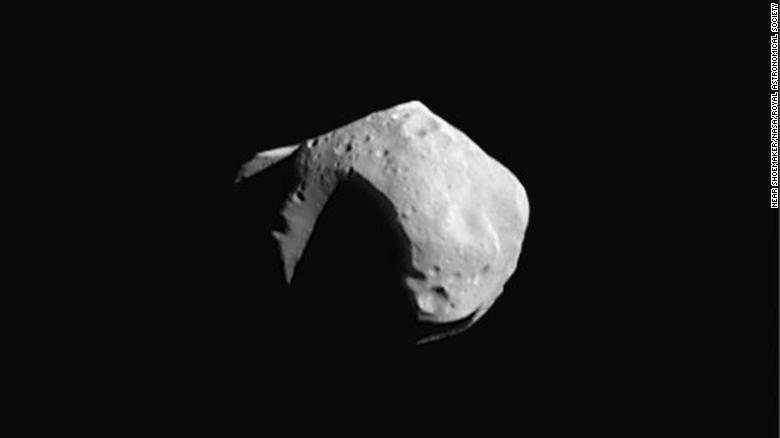 We don't have images of the newly discovered asteroids, but the researchers imagine they look similar to this one, called Mathilde, imaged by NASA's NEAR Shoemaker mission in 1997.