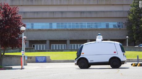 Nuro, a self-driving delivery startup, is ferrying medical supplies to a makeshift medical facility in Sacramento, California.