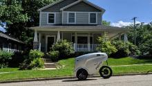 REV-1 robots are making 50 to 100 deliveries a day in Ann Arbor, Michigan.
