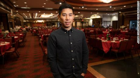 Truman Lam, manager of Jing Fong Restaurant in Manhattan's Chinatown, pictured in February. (Jorge Corona / New York University)