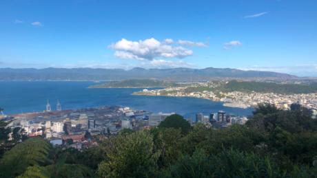 A view of Wellington, New Zealand, during the country's nationwide lockdown.