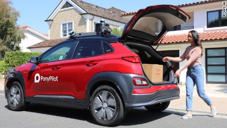 Pony AI launched a delivery service that uses self-driving cars in Irvine, California. So far, it makes about 200 deliveries a day.