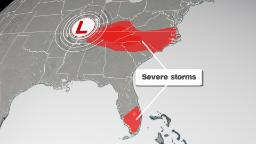 Severe storms possible across parts of the Southeast Saturday