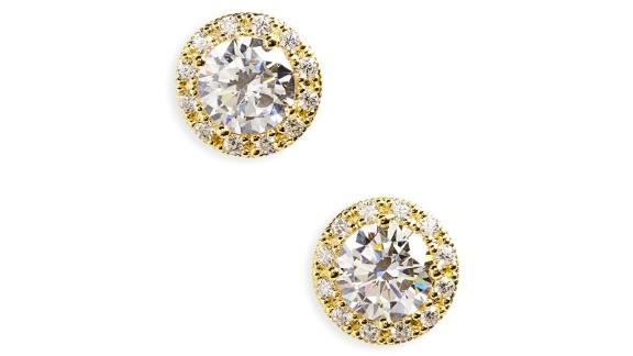 Nordstrom Pavé Cubic Zirconia Stud Earrings