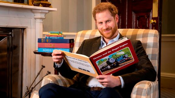 "Harry, The Duke of Sussex photographed in January this year during the recording of his on-camera introduction to the new animated special ""Thomas & Friends: The Royal Engine"". The 22-minute episode features Her Majesty The Queen and HRH The Prince of Wales as a child and has been produced as part of Thomas & Friends"