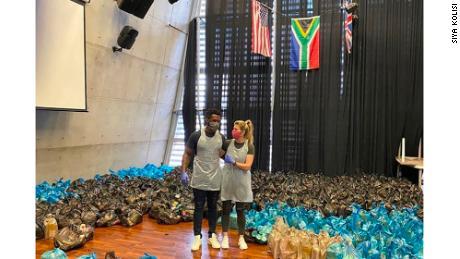 Siya Kolisi and his wife, Rachel, have been helping vulnerable families through the Siya Kolisi Foundation.