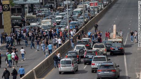 Protesters closed the Northern Highway during a protest against the collapsing currency and the price hikes of goods.