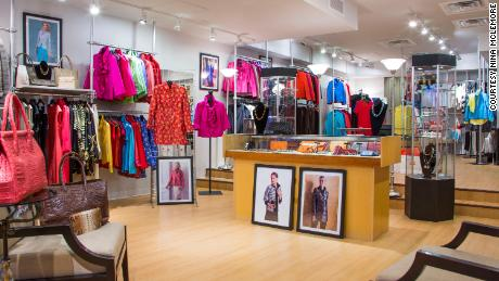 Interior of Nina McLemore boutique
