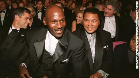 Jordan and Muhammad Ali together in 1999.