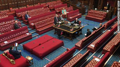 The UK House of Lords has implemented social distancing measures in the chamber during the coronavirus outbreak.
