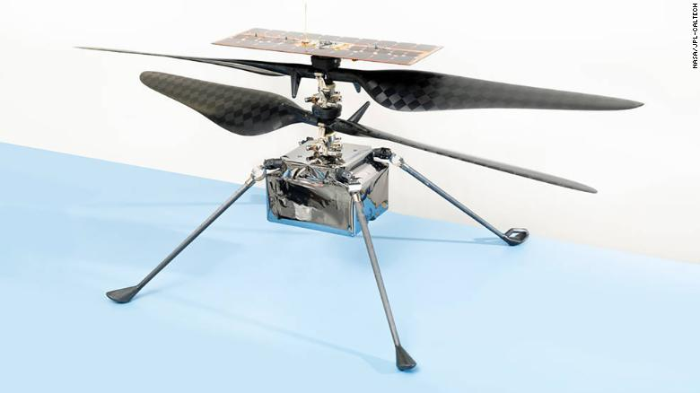 The flight model of NASA's Mars Helicopter named Ingenuity by Vaneeza Rupani.