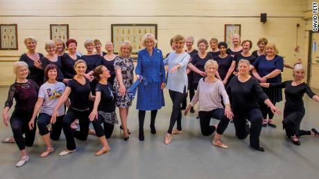 The Duchess of Cornwall visited London's Royal Academy of Dance in 2018.