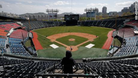 The Korean Baseball Organization is starting its season on May 5 and will play games without spectators.