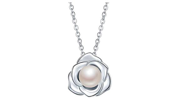 'Lovely Rose' Freshwater Pearl and Sterling Silver Pendant