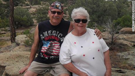 Sandra and Gus Kunz. Sandra was a Walmart cashier in Aurora, Colorado. She and her husband Gus both died from coronavirus, her sister said.