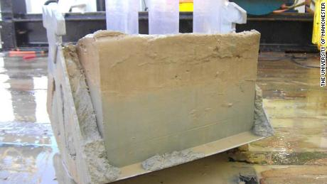 A box core sample from the seafloor.