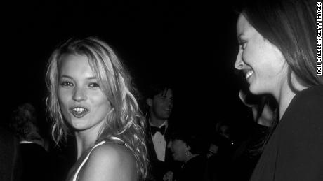 NEW YORK CITY - DECEMBER 4:  Kate Moss and Christy Turlington attend Metropolitan Museum of Art Costume Institute Exhibition on December 4, 1995 at the Metropolitan Museum of Art in New York City. (Photo by Ron Galella/Ron Galella Collection via Getty Images)
