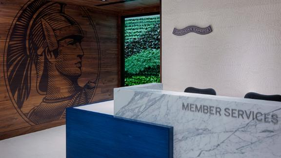The entrance to the American Express Centurion Lounge in Phoenix.