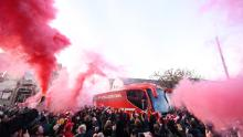 Fears are that fans will gather outside stadiums, especially if Liverpool win the league.