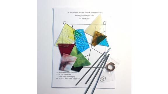 Stained Glass Abstract Suncatcher Kit