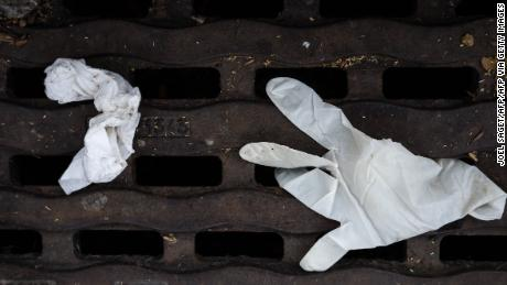 Discarded masks and gloves have become a common sight in cities around the world.
