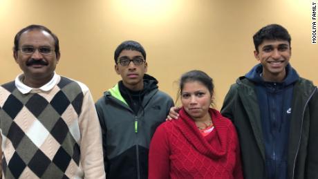 Ananda Mooliya 56, who died April 8, his son Akshay Mooliya, 16, his wife, Rajni Atavar, 50, and eldest son Amith Mooliya, 21.