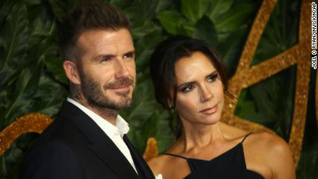 Former soccer player David Beckham and designer Victoria Beckham at the The Fashion Awards 2018.