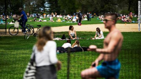 Nice weather sends people to Central Park after weeks stuck at home
