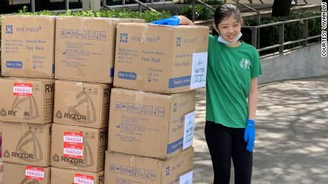 Valerie Xu donated more than 10,000 face masks to medical workers in Dallas.