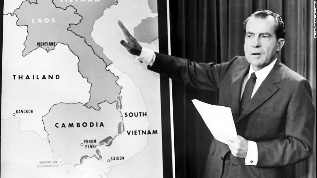President Richard Nixon addresses the nation in April 1970 to explain the expansion of the Vietnam War into Cambodia. Anti-war activists all over the country, including at Kent State, saw this as a betrayal by the President, who promised to end the war when he was elected less than two years earlier.