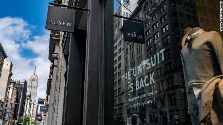 A J.Crew store on 5th Avenue in New York City. The retailer announced Monday that it had filed for bankruptcy protection.