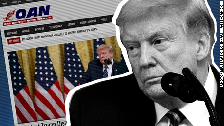Meet OAN, the little-watched right-wing news channel Trump continues to promote