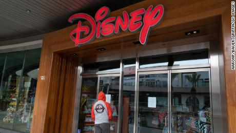The Disney Store in Santa Monica's outdoor mall after Los Angeles ordered the closure of all entertainment venues.