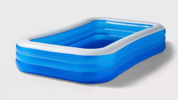 """Sun Squad 10' X 22"""" Deluxe Rectangular Inflatable Above Ground Pool"""