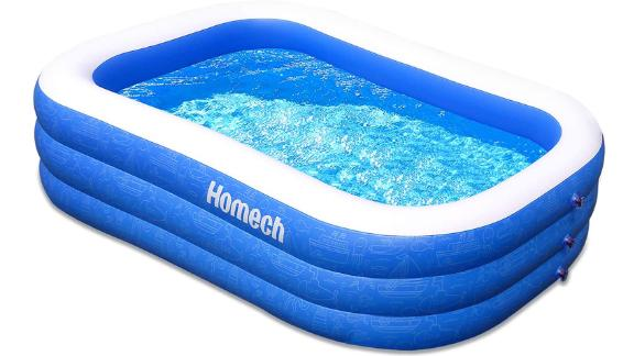 "Homech Family Inflatable Swimming Pool, 120"" x 72"" x 22"""