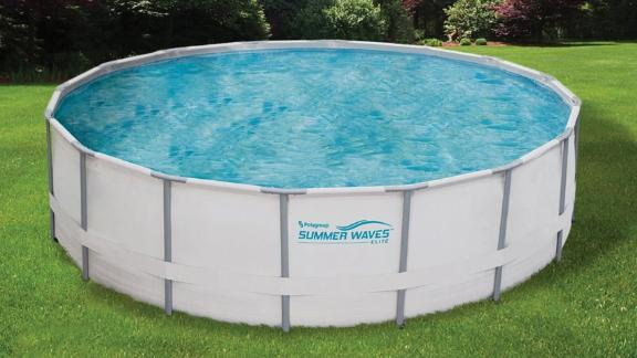 Summer Waves Elite Metal Frame Swimming Pool Package - 15-ft x 48-in