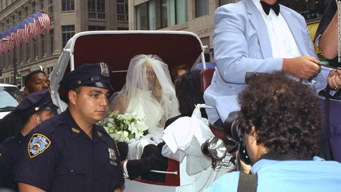 Madonna and dennis rodman wedding