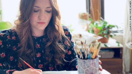Emily Rose Asher is the owner and designer of Emily Rose Ink, a calligraphy and wedding paper goods company.