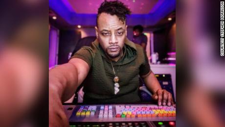 Audio engineer Stephen Morrison working at Billboard Studios in Midtown Atlanta.