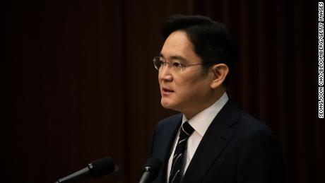 Jay Y. Lee, co-vice chairman of Samsung Electronics, speaking at a news conference in Seoul on Wednesday.