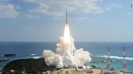 The Hope Probe will launch from Tanegashima, Japan, using an MHI H2A launcher, as shown in this image.