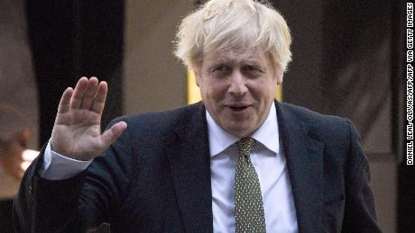 Britain's Prime Minister Boris Johnson leaves 10 Downing Street in central London on May 6, 2020 to attend Prime Minister's Questions (PMQs) in the Houses of Parliament.